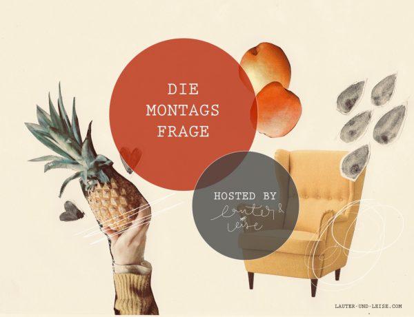 Banner der Aktion Montagsfrage zeigt einen Sessel, eine Ananas und Regentropfen