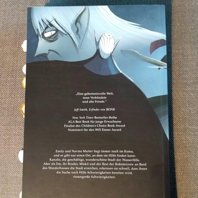 Rückseite des Comics mit Klappentext