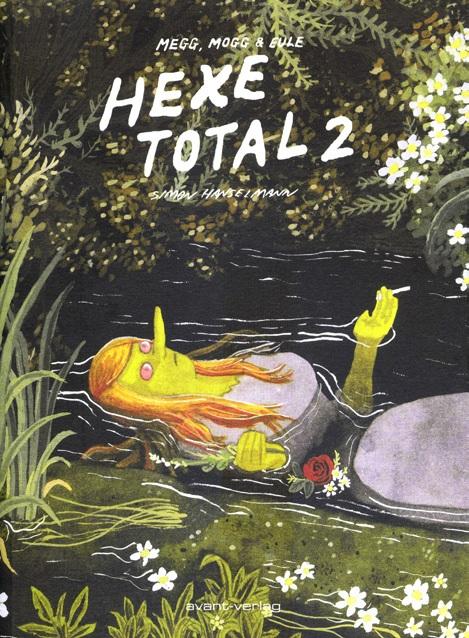 Cover zeigt eine Hexe auf dem Rücken in einem Bach treibend
