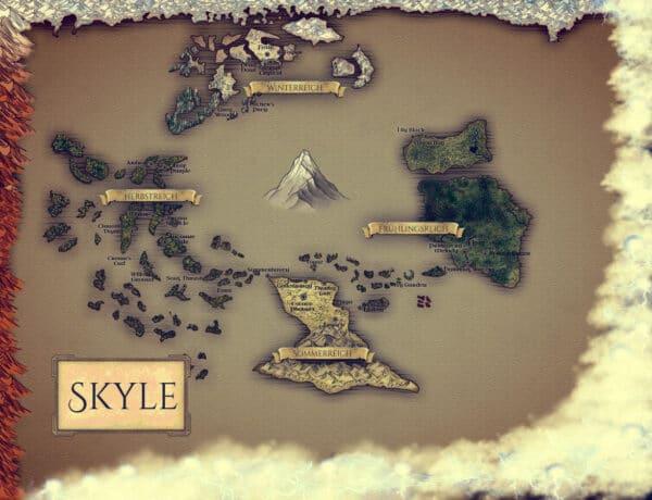 Farbige Weltkarte von SKYLE