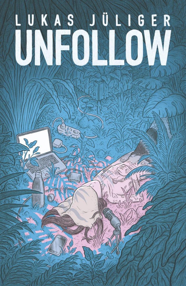Comiccover in blau-rosa