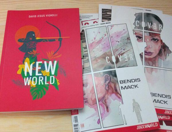 Comics nebeneinander, ein Tradepaperback und einige Hefte
