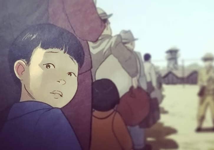 Ausschnitt vom Comiccover zeigt das Gesicht eines Jungen, der ängstlich hinter sich schaut