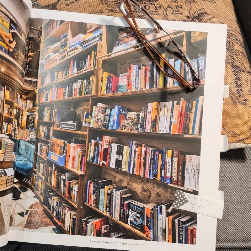 Leseprobe zeigt volle Büchrregale, hier hauptsächlich Graphic Novels