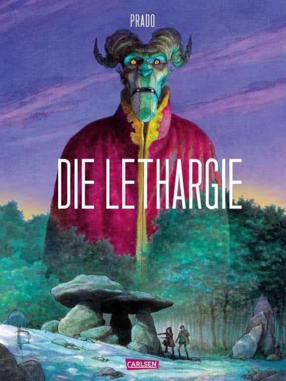Cover zeigt einen Dämon mit Hörnern über einem Hünengrab im Wald
