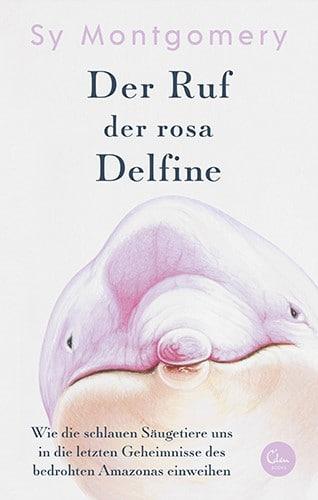 Cover zeigt den Kopf eines rosa Delfins