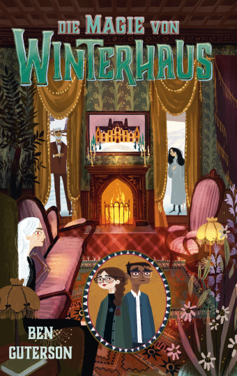 Cover des Buches zeigt das Kaminzimmer des Hotels